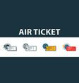 air ticket icon set four simple symbols in vector image vector image