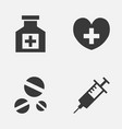 antibiotic icons set collection of heal vector image vector image