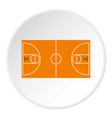 basketball field icon circle vector image vector image