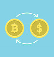 bitcoin to dollar currency exchange vector image