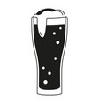black and white beer glass silhouette vector image vector image