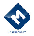bm letter logo vector image vector image