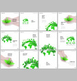 Brochure layout square format covers design