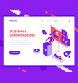 business presentation people and interact vector image