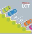 car park parking lot vector image vector image