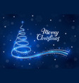 christmas background with abstract shining vector image