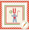 christmas frame with hare vector image vector image