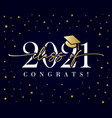 class 2021 golden calligraphy banner vector image vector image