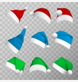 colorful christmas hats realistic vector image