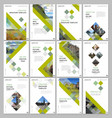 creative brochure templates with colorful cubes