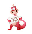 cute dino characters cartoon vector image vector image