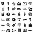 economy icons set simple style vector image vector image