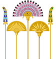 Egyptian Large Fans vector image vector image