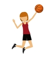 female athlete practicing isolated icon design vector image vector image