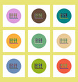 flat icons set of business statistics concept on vector image vector image