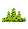 forest landscape icon image vector image vector image