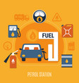 fuel pump composition vector image vector image