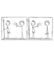 funny cartoon comic strip or western tourist vector image