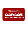 garage vintage rusty metal sign car repair vector image