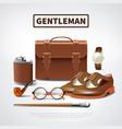 gentleman accessories realistic set vector image vector image