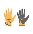 golf glove vector image vector image
