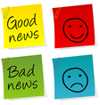 Good bad news notes vector | Price: 1 Credit (USD $1)