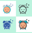 good sleep concept icon set in flat and line style vector image