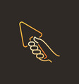 hand with trowel concept colored linear vector image vector image