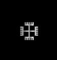 Hands of God a symbol of Polish Neopaganism vector image vector image