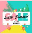 hello summer sale 50 off shop now ice cream snork vector image