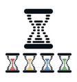 hourglass icons dot shaped time symbols vector image vector image
