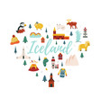 iceland cartoon banner travel vector image vector image