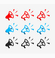 icon loudspeaker loud bullhorn for announce vector image