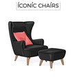 iconic chair hand drawn vector image
