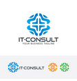 it - consulting logo vector image vector image
