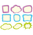 label templates in three colors vector image vector image