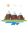 Landscapes by the sea in flat style vector image vector image