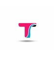 Letter T logo vector image vector image