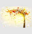 lonely autumn tree vector image vector image