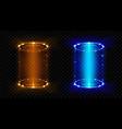 magic portal fantasy futuristic hologram teleports vector image vector image