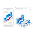 map of city on white design vector image vector image