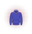 Men hoodies icon comics style vector image vector image