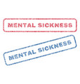 mental sickness textile stamps vector image