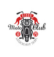 moto club logo legendary team 1979 design vector image vector image