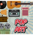 music vintage old popart vector image vector image