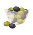 Olive in plate vector image vector image