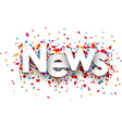 Paper news confetti sign vector image