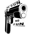 Pistol 1911 gun fire 45 caliber vector image vector image