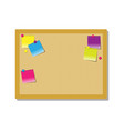 pith board for notes with color stickers vector image