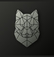 polygonal head of a wolf vector image vector image